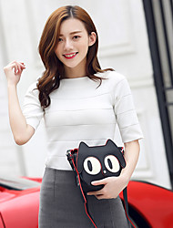 Women Bags All Seasons PU Shoulder Bag for Wedding Event/Party Casual Sports Formal Outdoor Office & Career Black