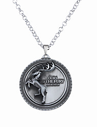 cheap -Men's Women's Circle Circular Unique Design Logo Style Dangling Style Pendant Necklace Jewelry Alloy Pendant Necklace ,