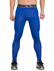 cheap -Vansydical® Men's Running Pants - Red, Blue Sports Compression Clothing / Tights / Leggings Fitness, Gym, Workout Activewear Quick Dry, Breathable Stretchy