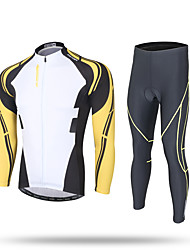 XINTOWN Cycling Jersey with Tights Men's Long Sleeves Bike Pants/Trousers/Overtrousers Tracksuit Zip Top Jersey Bottoms Tops Quick Dry