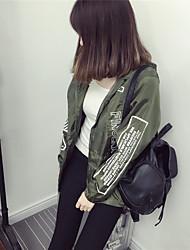 Sign spot Women windbreaker female coat Spring Korean students loose long-sleeved short paragraph Harajuku style jacket