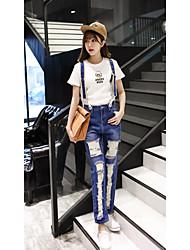 firmano vita nove punti era sottile salopette di jeans coreani femminili bretelle studenti di marea pantaloni nove punti