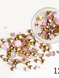 75PCS Mixed Sizes Ogival Base Glisten Crystal  Glitter Rhinestone Nail Art Decorations