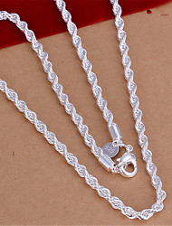 Men's Women's Chain Necklaces Silver Plated Fashion Costume Jewelry Jewelry For Daily