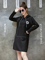 grand prix europeen printemps 2017 nouvelles femmes&# 39; produits européens manches longues à capuche couverture robe pull longue