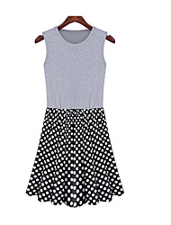 * European style new spring and summer women Polka Dot Dress Women's large size women