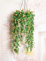 1 branche séchée fleur azalée mur fleur fleurs artificielles style frais