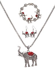 Jewelry 1 Necklace 1 Pair of Earrings 1 Bracelet Hoop Earrings Choker Necklaces Chain Necklaces / Animal Design Party Daily CasualAlloy