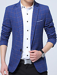 cheap -Men's Business Vintage Slim Blazer - Color Block