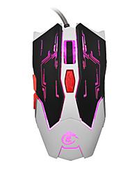 economico -hxsj x100 usb del professionista cablata in movimento rapido guidati da gioco luce periferiche di gioco mouse con sei pulsanti