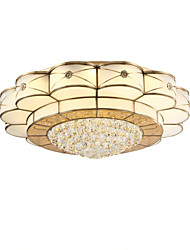 cheap -Full Copper  Crystal Ceiling Bedroom Living Room Crystal Ceiling Lamp E