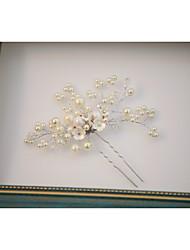 economico -stile elegante del copricapo del bastone dei capelli della lega di cristallo della perla