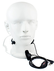 cheap -2 Pin PTT Throat MIC Headset Walkie Talkie Covert Acoustic Tube for Motorola GP88 GP300 GP2000 HYT TC-500S