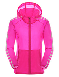 Women's Hiking Jacket Quick Dry Windproof Ultraviolet Resistant Dust Proof Breathable Jacket Top for Camping / Hiking Fishing Climbing