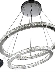 cheap -Dimmable Crystal Chandeliers LED Indoor Pendant Light Ceiling Lamp Lighting with Remote Control