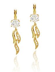 cheap -Women's Girls' Drop Earrings Imitation Diamond Unique Design Pendant Tag Heart Fashion Personalized Hypoallergenic Euramerican Zircon