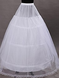 cheap -Wedding Special Occasion Slips Polyester Tulle Netting Tea-Length A-Line Slip Ball Gown Slip With
