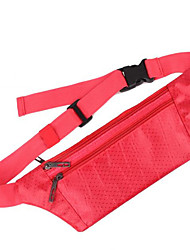 cheap -0.1 L Waist Bag / Waistpack / Wallet / Cell Phone Bag - Waterproof, Rain-Proof, Heat Insulation Outdoor Yoga, Camping / Hiking, Hunting Terylene, Waterproof Material Red, Gray, Fuchsia
