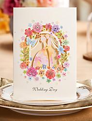 Piegato in tre Inviti di nozze 50-Cartoline per festa di fidanzamento Bachelorette Cards Partito Set per partecipazioni ed inviti Inviti