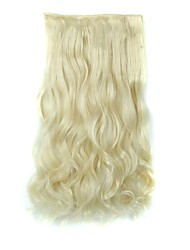 cheap -Clip In Hair Extensions Hairpiece 23inch 58cm 110g Curly Wavy Hair Extension Synthetic Heat Resistant  D1010 613#