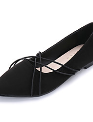 cheap -Women's Shoes Suede Spring Fall Comfort Flats Flat Heel Pointed Toe For Casual Dress Black Blue Burgundy