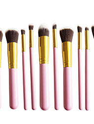 New 10 Gold Color Face Eye Lip Makeup Brush Sets Shading Brush Brush Highlights Beginners Essential Professional Makeup Brush Bag Mail