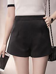 assinar primavera de 2017 novas mulheres de cintura alta uma palavra calções calças perna larga casuais leggings desgaste exterior