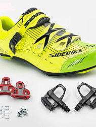 BOODUN/SIDEBIKE® Road Bike Shoes Sneakers With Pedal & Cleats Unisex Cushioning Outdoor Road Bike PU Breathable Mesh Cycling