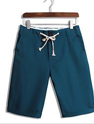 abordables -Hombre Casual Delgado Shorts Pantalones - Un Color