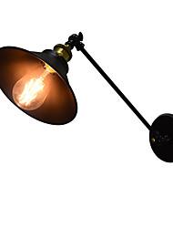 economico -AC220V-240V 4w e27 ha condotto le luci lampada da parete in ferro muro ronzio muto lampada spada laser nera sul muro