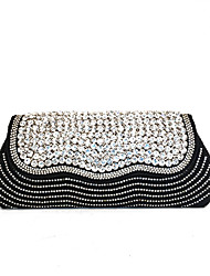 Donna Sacchetti Primavera Estate Autunno Inverno Per tutte le stagioni Velluto Metallo Pochette Perle Crystal / Rhinestone per Matrimonio