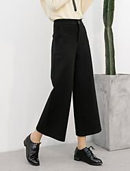 2017 весна корейский высокой талии брюки широкий ноги свободные девять очков шаровары прямые брюки случайных женский знак