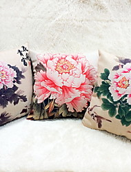 cheap -1 pcs Linen Pillow Case Body Pillow Travel Pillow Sofa Cushion Novelty Pillow,Floral Graphic PrintsAccent/Decorative Outdoor