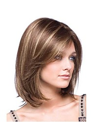 cheap -Synthetic Wig Straight Synthetic Hair Ombre Hair Brown Wig Women's Medium Length Natural Wigs / Halloween Wig / Carnival Wig Capless