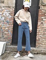 Действительно сделать 2017 весна новый корейский оригинал один свободный сделать старый кружевной джинсы микро динамик