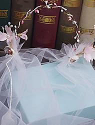 Cappello di lana di tulle-cerimonia nuziale occasione speciale fasce di tiaras esterne 1 pezzo