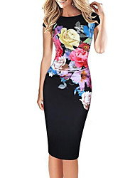 cheap -Women's Street chic Bodycon Dress Print