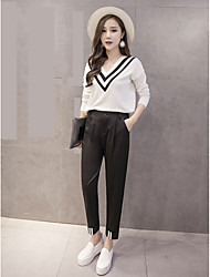 Big yards fat MM was thin tapered pants leisure suit female Korean fashion harem pants waist pantyhose feet