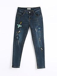 baratos -Mulheres Moda de Rua Justas / Skinny Jeans Calças - Animal