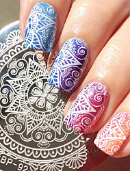 cheap -1 Pc Round 5.5cm Nail Art Stamp Template Nail Stamping Plate