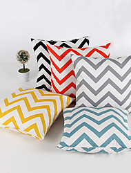 cheap -1 pcs Chenille Pillow Case,Striped Geometric Modern/Contemporary Traditional/Classic
