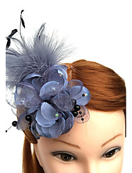 cheap -Tulle Feather Net Fascinators Hats Birdcage Veils Headpiece Elegant Style