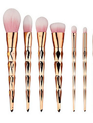 cheap -7pcs Contour Brush Makeup Brush Set Blush Brush Eyeshadow Brush Lip Brush Brow Brush Powder Brush Foundation Brush Nylon Synthetic Hair