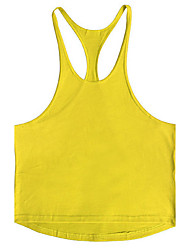 cheap -Men's Sports Beach Active Street chic Cotton Tank Top - Solid Colored