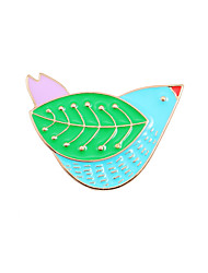 cheap -Women's Brooches Animal Design Fashion Cute Style Enamel Alloy Animal Shape Bird Jewelry For Wedding Party Special Occasion Daily Casual