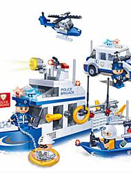Stavební bloky Policejní auto Hračky Loď Hračky 420 Pieces Chlapci Dárek