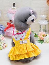 preiswerte -Hund Mäntel Hundekleidung Niedlich Lässig/Alltäglich Kartoon Gelb Blau