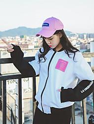Sign Hong Kong 2017 spring new Harajuku style casual bomber jacket baseball uniform coat female