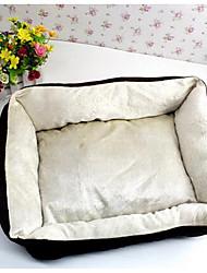 Кровать для животных&Подушечки мягкого коричневого нейлонового хлопка