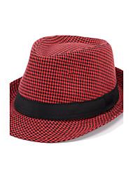 cheap -Men Women Summer Thin Couple Jazz Hat Lattice Thousands of Birds Grid Leisure Cap